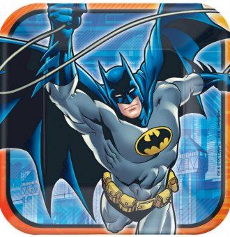 Batman 23cm Square Plates