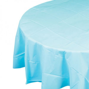 Round table cover- Blue Color