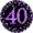 PINK CELEBRATION 40 23CM PRISMATIC PLATES