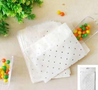 10pk Silver Dotty Treat Bag