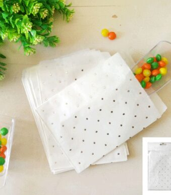 10pk Silver Dotty Treat Bag