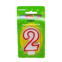 Age Red Border Candle