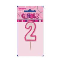 Pink Glitz Candle