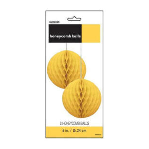 2 Honeycomb Balls - Sunflower Yellow - 15.24cm (6) (FILEminimizer)