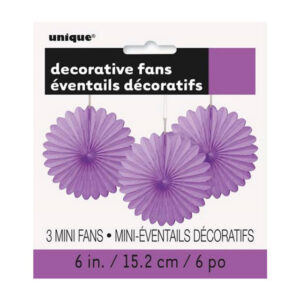 3 Decorative Fans Pretty Purple 15cm (6) (FILEminimizer)