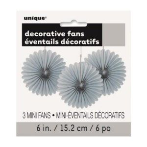 3 Decorative Fans Silver 15cm (6) (FILEminimizer)