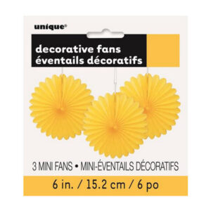 3 Decorative Fans Sunflower Yellow 15cm (6) (FILEminimizer)