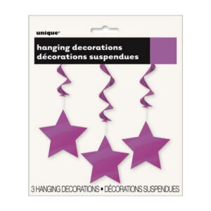 3 Star Hanging Swirl Decorations Pretty Purple 90cm L (36) (FILEminimizer)