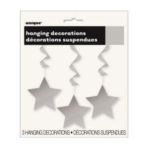 3 Star Hanging Swirl Decorations Silver 90cm L (36) (FILEminimizer)