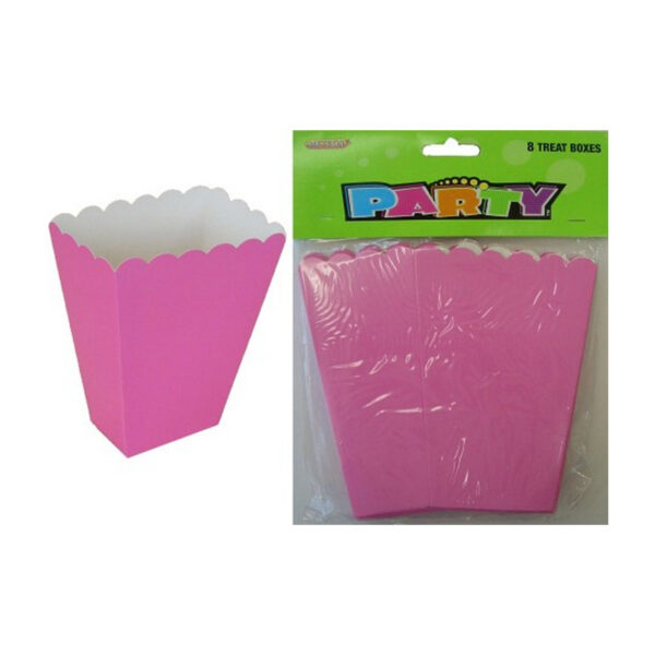 8 Treat Boxes - Hot Pink - 14cm H x 10cm W x 6cm D