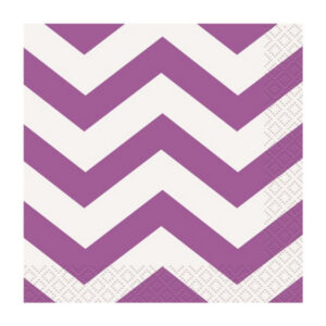 Chevron Pretty Purple 16 Beverage Napkins 2ply 25.4cm x 25.4cm (FILEminimizer)