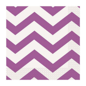Chevron Pretty Purple 16 Luncheon Napkins 2ply 33cm x 33cm (FILEminimizer)