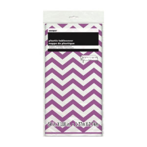 Chevron Pretty Purple Plastic Tablecover 137cm x 274cm (FILEminimizer)