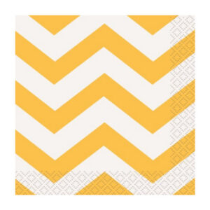Chevron Sunflower Yellow 16 Beverage Napkins 2ply 25.4cm x 25.4cm (FILEminimizer)