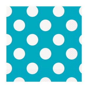 Dots Caribbean Teal 16 Beverage Napkins 2ply 25.4cm x 25.4cm (FILEminimizer)