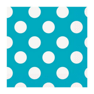 Dots Caribbean Teal 16 Luncheon Napkins 2ply 33cm x 33cm (FILEminimizer)
