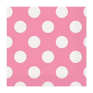 Dots Hot Pink 16 Beverage Napkins 2ply 25.4cm x 25.4cm