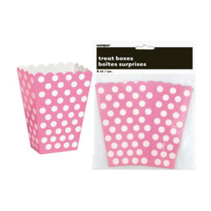 Dots Hot Pink 8 Treat Boxes 14cm H x 9.5cm W