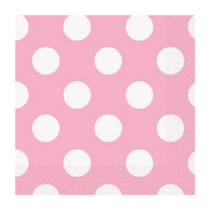 Dots Lovely Pink 16 Beverage Napkins 2ply 25.4cm x 25.4cm