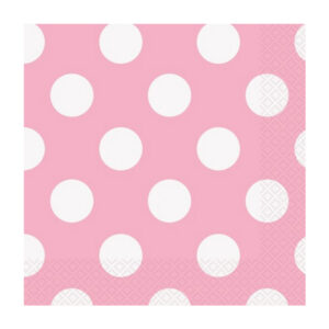 Dots Lovely Pink 16 Luncheon Napkins 2ply 33cm x 33cm
