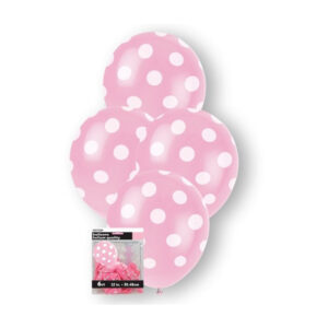 Dots Lovely Pink 6 x 30cm (12) Balloons