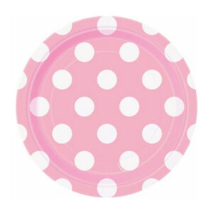 Dots Lovely Pink 8 x 18cm (7) Paper Plates