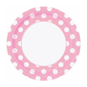 Dots Lovely Pink 8 x 23cm (9) Paper Plates