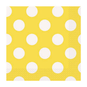 Dots Sunflower Yellow 16 Luncheon Napkins 2ply 33cm x 33cm (FILEminimizer)
