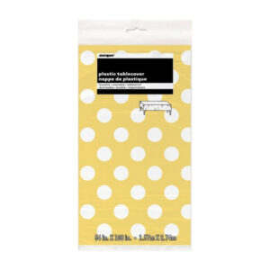 Dots Sunflower Yellow Tablecover 137cm x 274cm (FILEminimizer)