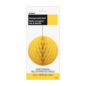 Honeycomb Ball Sunflower Yellow 20cm (8) (FILEminimizer)