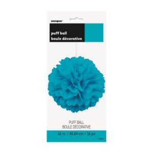 Puff Ball Decor Caribbean Teal 40cm (16) (FILEminimizer)