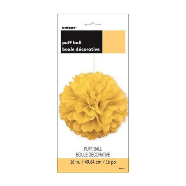Puff Ball Decor Sunflower Yellow 40cm (16) (FILEminimizer)