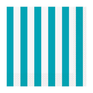 Stripes Caribbean Teal 16 Beverage Napkins 2ply 25.4cm x 25.4cm (FILEminimizer)