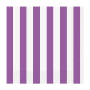 Stripes Pretty Purple 16 Beverage Napkins 2ply 25.4cm x 25.4cm (FILEminimizer)