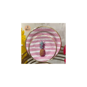 12pk 18cm Pink Troppo Paper Plate