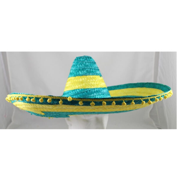 SOMBRERRO Hat 60cm. Combination of Green and Gold
