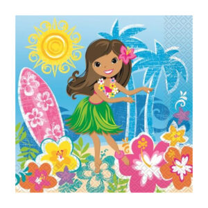 Hula Beach Party 16 Luncheon Napkins 2ply 33cm x 33cm