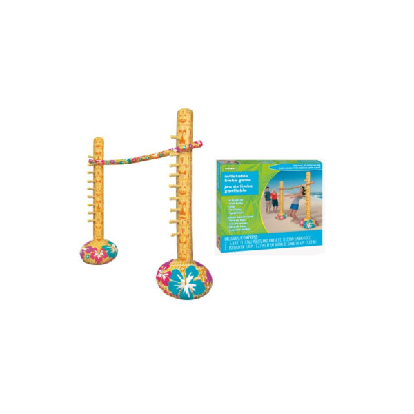 Inflatable Limbo Game Includes 2 x 1.72m (5.8') Poles And 1 x 1.83m (6') Limbo Stick