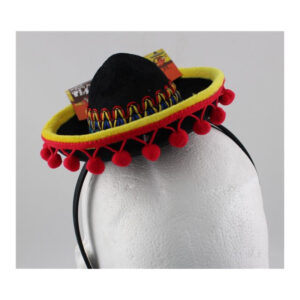 Mini Mexican Head band with Hat