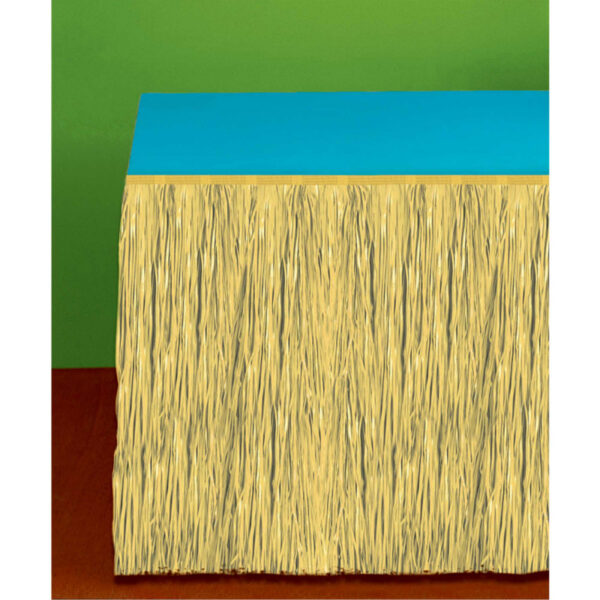 Table Skirt Grass Natural Look